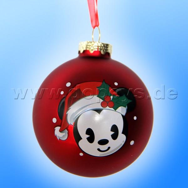 """Kurt S. Adler - Disney """"Baby Mickey mit Weihnachtsmütze"""" Weihnachtsbaumkugel / Glaskugel in Rot DN02005-E"""