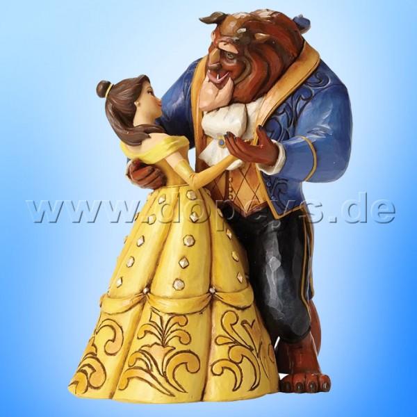 "Disney Traditions / Jim Shore Figur von Enesco.""Moonlight Waltz (Belle & Beast Tanzpaar 25 Jahre Jubiläumsfigur)"" 4049619."