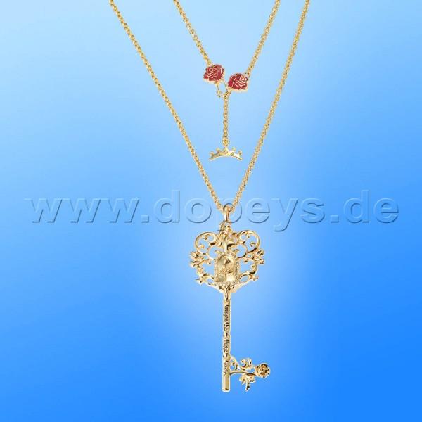 Disney Halskette - Schlüssel (Die Schöne und das Biest) in Gold von Couture Kingdom 12100541