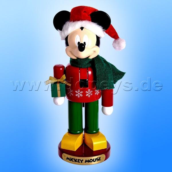 """Kurt S. Adler - Disney Nussknacker """"Mickey Maus"""" mit Weihnachtsgeschenk DN6171L"""