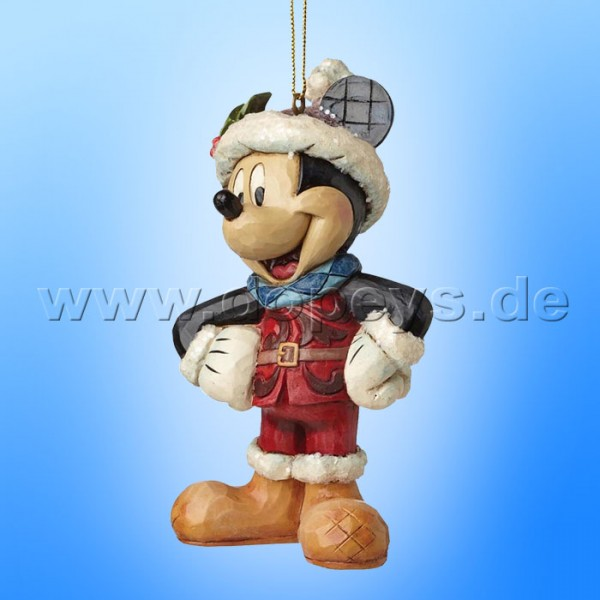 "Disney Traditions / Jim Shore Figur von Enesco ""Sugar Coated Mickey Maus Ornament Baumanhänger"" A28239."