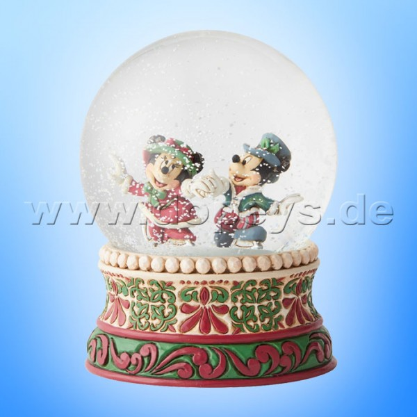 Splendid Skaters (Victorianische Mickey & Minnie Maus Schneekugel) Figur von Disney Traditions / Jim Shore - Enesco 6002832