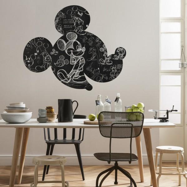 "Disney Wandsticker / Wandaufkleber Mickey Maus Kopf ""Mickey Head Illustration"" 127cm x 127cm"