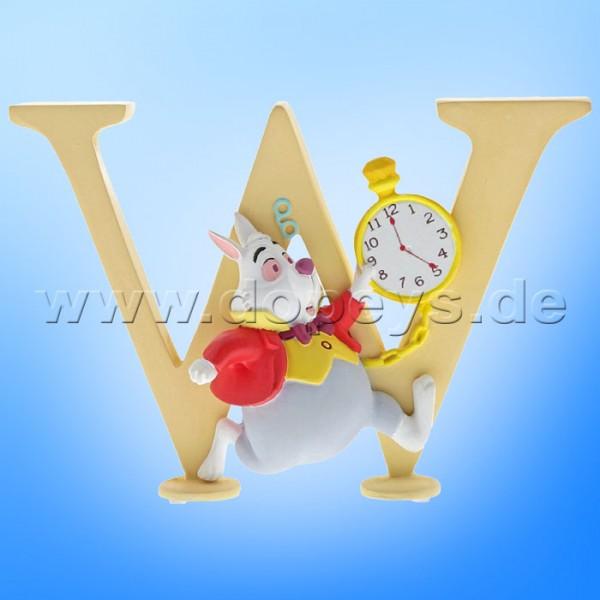 """Enchanting Disney Collection - Buchstabe """"W"""" - Weißes Kaninchen Figur von Enesco A29568"""