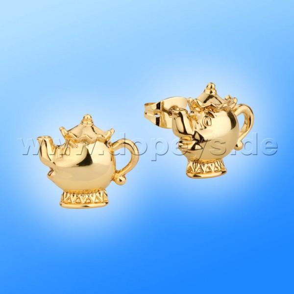 Disney Ohrstecker - Madame Pottine (Die Schöne und das Biest) in Gold von Couture Kingdom 12100491