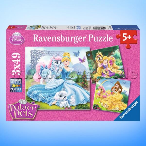 """Disney Puzzles Prinzessinnen """"Palace Pets -Belle, Cinderella und Rapunzel"""" von Ravensburger 09346"""