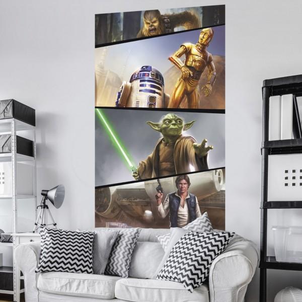 "Star Wars Vlies Fototapete ""Star Wars Moments Rebels"" 1,20m x 2,00m"
