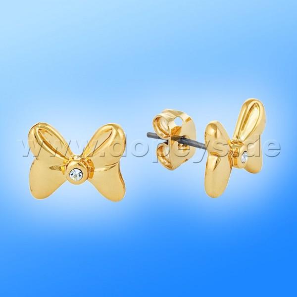 Disney Kristall Ohrstecker - Schleife (Minnie Maus) in Gold von Couture Kingdom 12100941