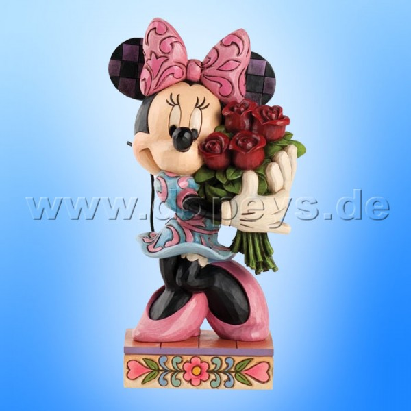 "Disney Traditions / Jim Shore Figur von Enesco. ""Le Vie en Rose (Minnie Maus mit Blumen)"" 4031480."