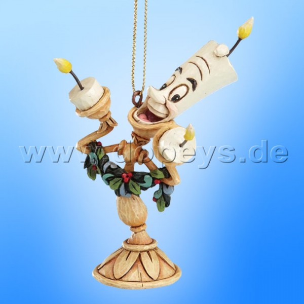 "Disney Traditions / Jim Shore Figur von Enesco. ""Lumiere Ornament Baumanhänger"" A21430."
