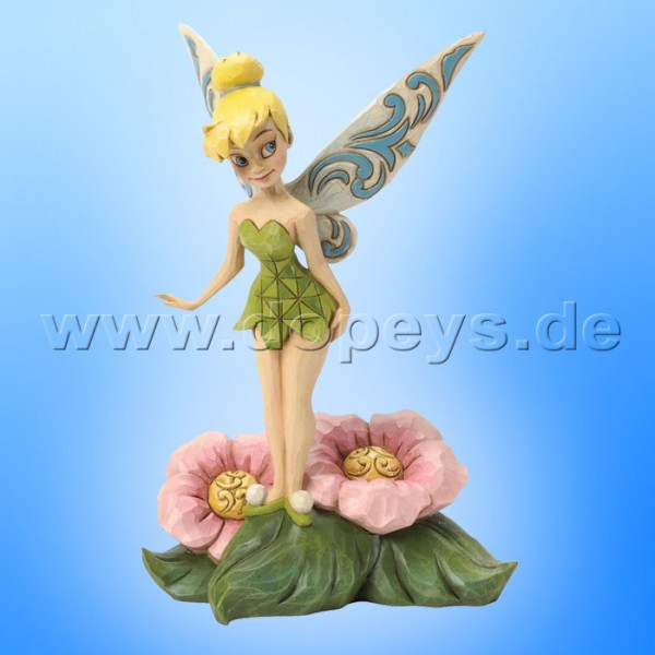 "Disney Traditions / Jim Shore Figur von Enesco. ""Flower Fairy (Tinker Bell auf Blumen)"" 4037505."