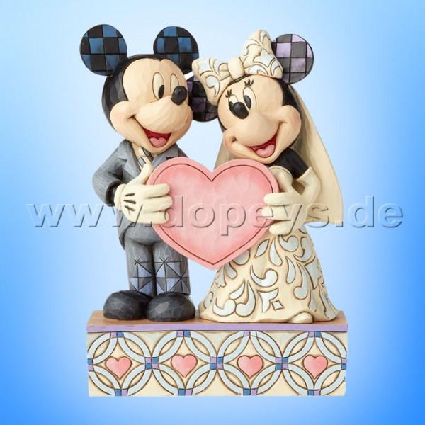"""Disney Traditions / Jim Shore Figur von Enesco """"Two Souls, One Heart (Mickey & Minnie Hochzeitspaar mit Herz)"""" 4059748"""