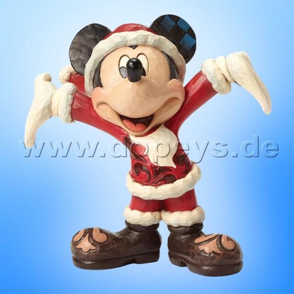 "Disney Traditions / Jim Shore Figur von Enesco ""Christmas Cheer (Santa Mickey)"" 4046016."