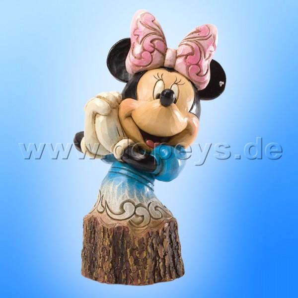 """Disney Traditions / Jim Shore Figur von Enesco """"Carved by Heart Baumstamm (Minnie Maus)"""" 4033289."""
