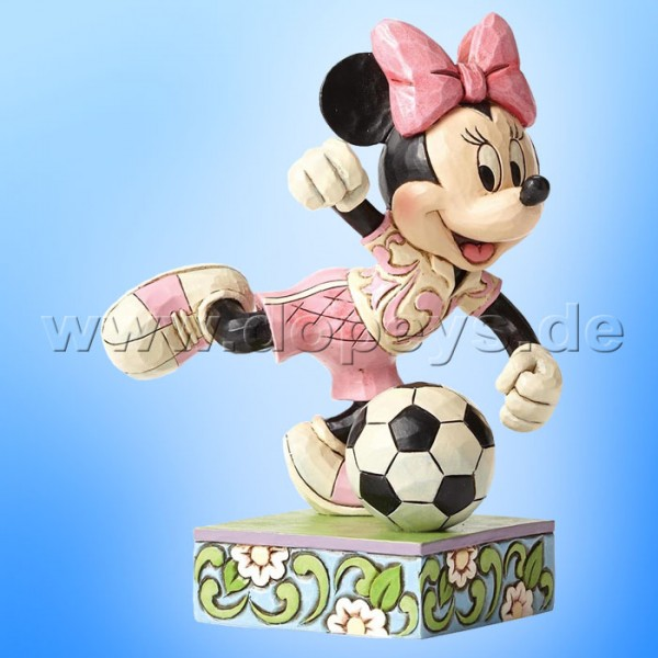 "Disney Traditions / Jim Shore Figur von Enesco. ""Goal (Fußballerin Minnie Maus)"" 4050397."