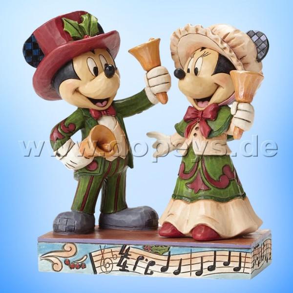 """Disney Traditions / Jim Shore Figur von Enesco """"Ringing in the Holidays (viktorianische Mickey & Minnie Maus)"""" 4051976."""