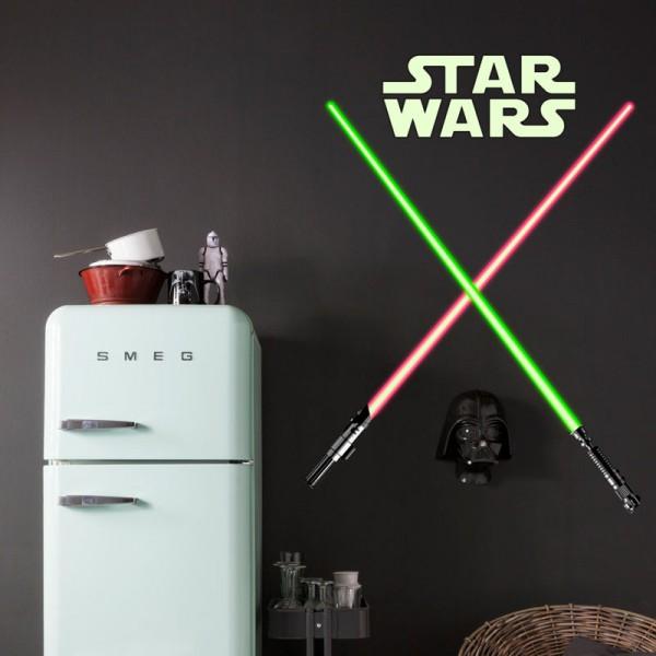 """Star Wars Wandsticker / Wandaufkleber """"Lightsaber / Lichtschwert"""""""