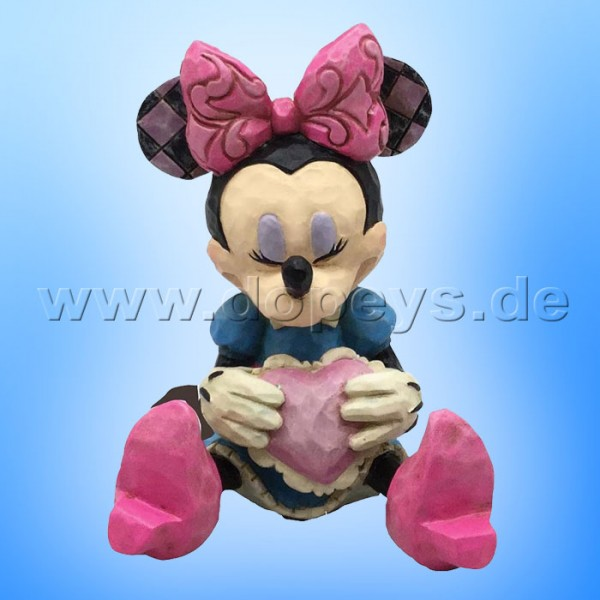 "Disney Traditions / Jim Shore Figur von Enesco ""Mini Minnie Maus mit Herz"" 4054285."