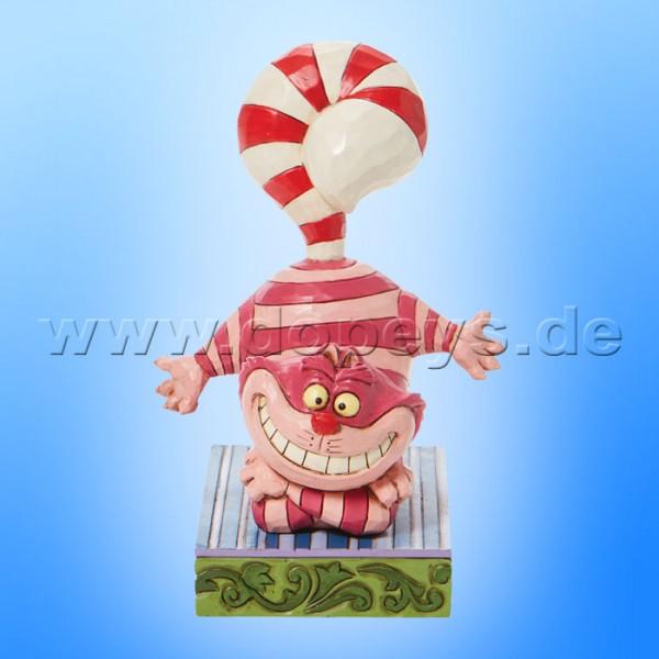 Disney Traditions - Candy Cane Cheer (Weihnachts-Grinsekatze mit Zuckerstangenschwanz) von Jim Shore 6008984