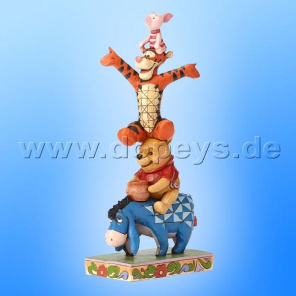 "Disney Traditions / Jim Shore Figur von Enesco ""Built by Friendship (I-Aah, Puuh, Tigger & Ferkel)"" 4055414."