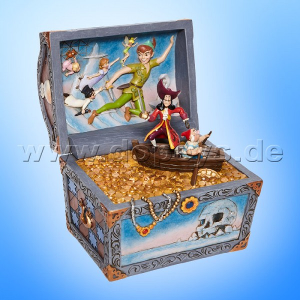 Disney Traditions - Treasure Strewn Tableau (Peter Pan Schatztruhe mit Szene) von Jim Shore 6008063