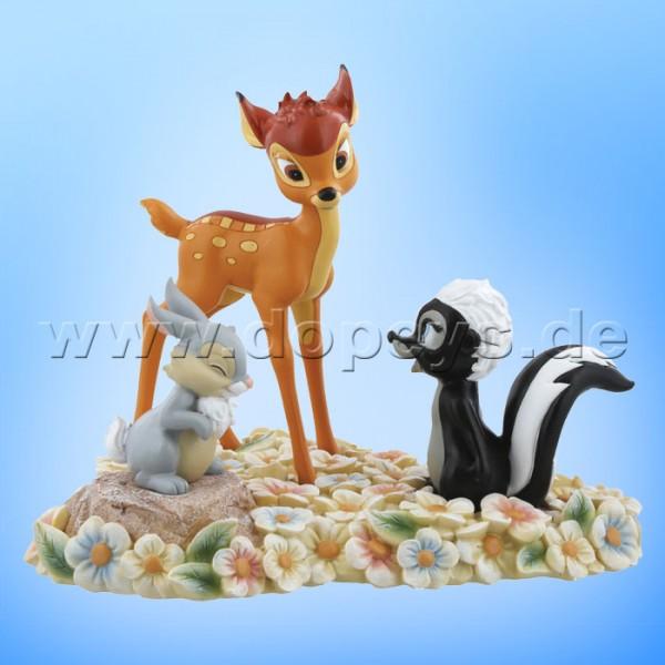 "Disney Enchanting Collection von Enesco ""Pretty Flower"" (Bambi, Klopfer & Blume) Figur A28730"