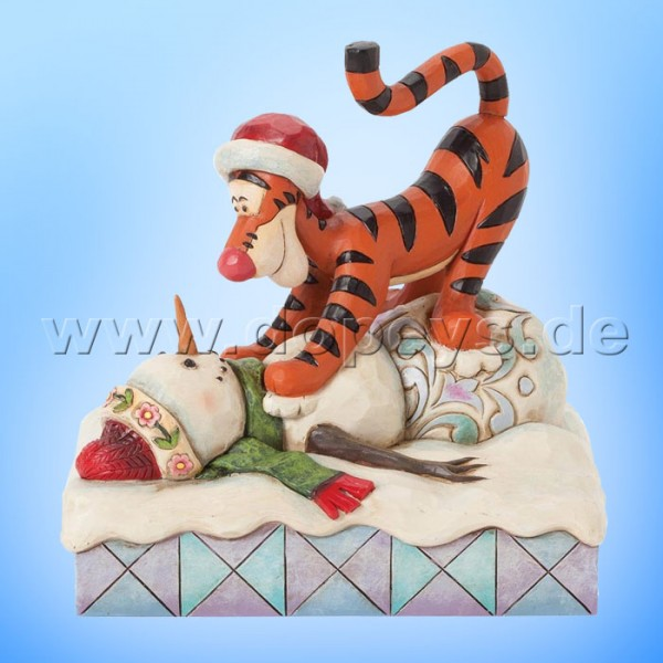 "Disney Traditions / Jim Shore Figur von Enesco. ""Pouncin' is what Tiggers Do Best (Tigger springt auf Schneemann)"" 4039044."