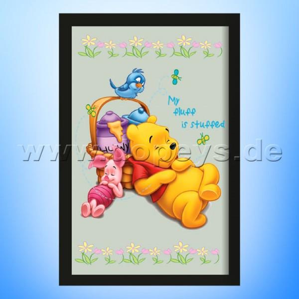 """Disney Wandspiegel / Motivspiegel - Winnie Puuh & Ferkel """"Honigschläfchen"""" 20 x 30cm HN18434"""