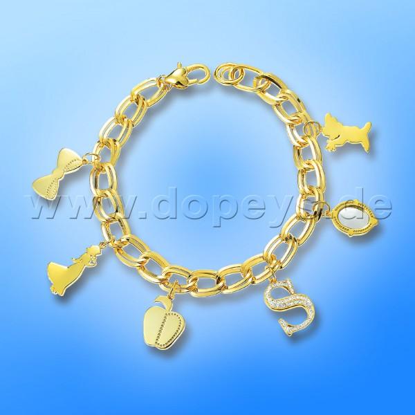 Disney Charm Armband - Schneewittchen (Princess) in Gold von Couture Kingdom 12100151