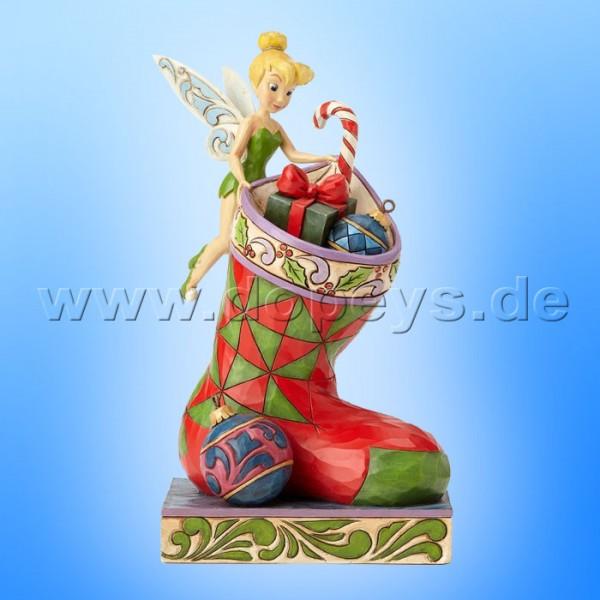 "Disney Traditions / Jim Shore Figur von Enesco ""Stocking Stuffer (Weihnachts Tinker Bell)"" 4057941."