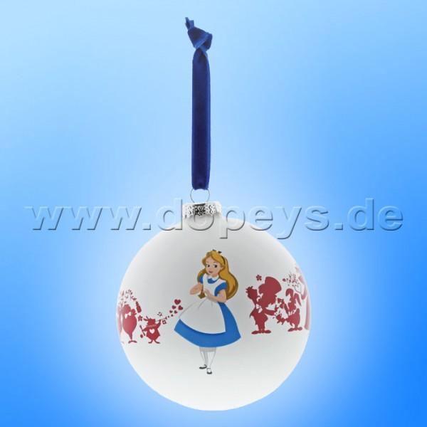 """Disney Enchanting Collection - Alice im Wunderland Weihnachtskugel / Glaskugel """"We're All Mad Here"""""""
