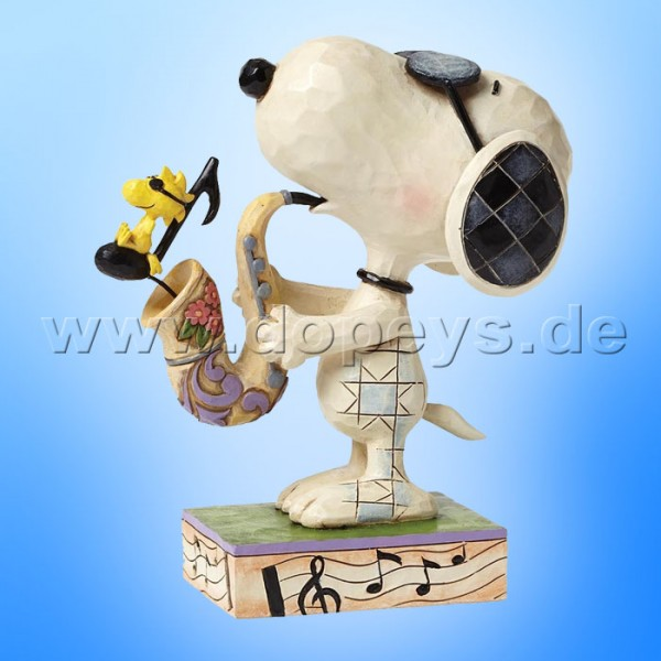 "Peanuts / Jim Shore Figur von Enesco.""The Blues Beagle (Joe Cool & Woodstock)"" 4049418."