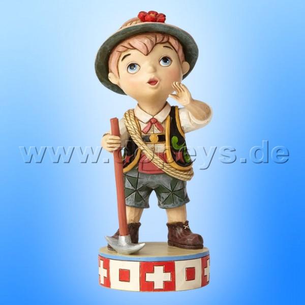 """Disney Traditions / Jim Shore Figur von Enesco """"Welcome to Switzweland (Small World Schweiz)"""" 4057959."""
