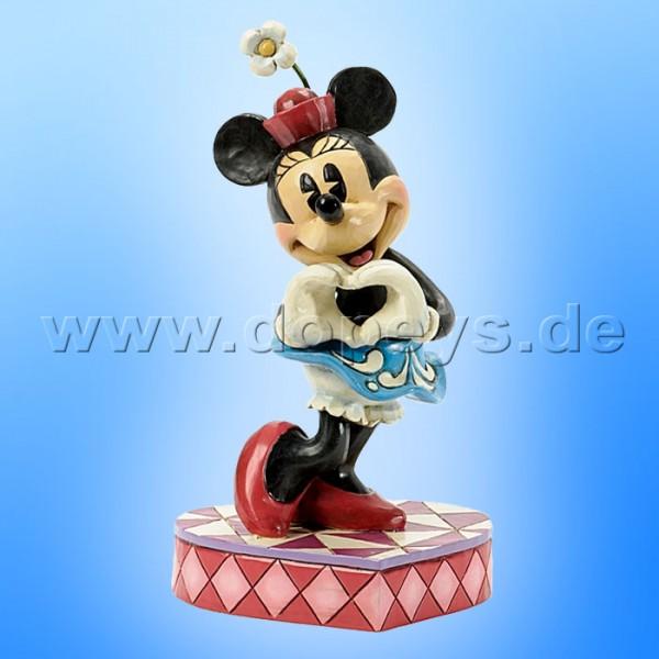 "Disney Traditions / Jim Shore Figur von Enesco ""I Heart You (Minnie Maus)"" 4037519."