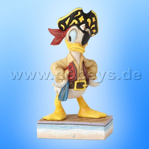 "Disney Traditions / Jim Shore Figur von Enesco ""Salty Sailor (Pirat Donald)"" 4056761."
