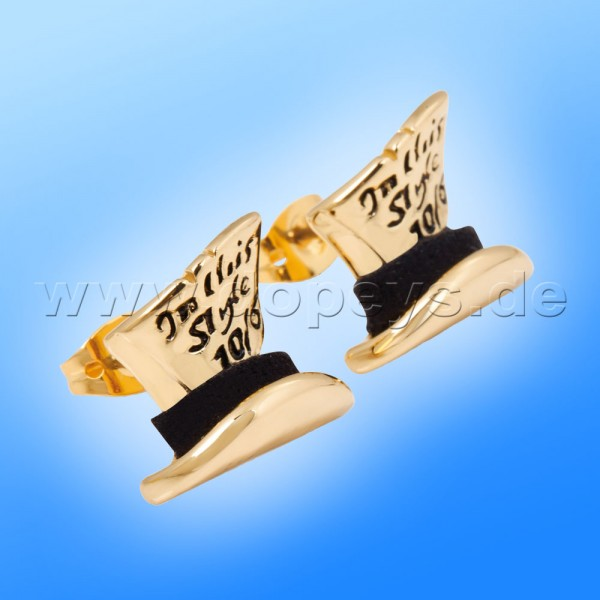 Disney Ohrstecker - Hutmacher (Alice im Wunderland) in Gold von Couture Kingdom 12100281