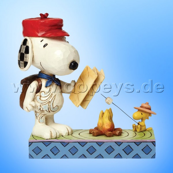 "Peanuts / Jim Shore Figur von Enesco ""Campfire Friends (Snoopy & Woodstock)"" 4049414."