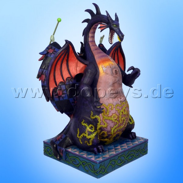 "Disney Traditions / Jim Shore Figur von Enesco. ""Casting the Spell (Malefiz / Drache)"" 4011739."