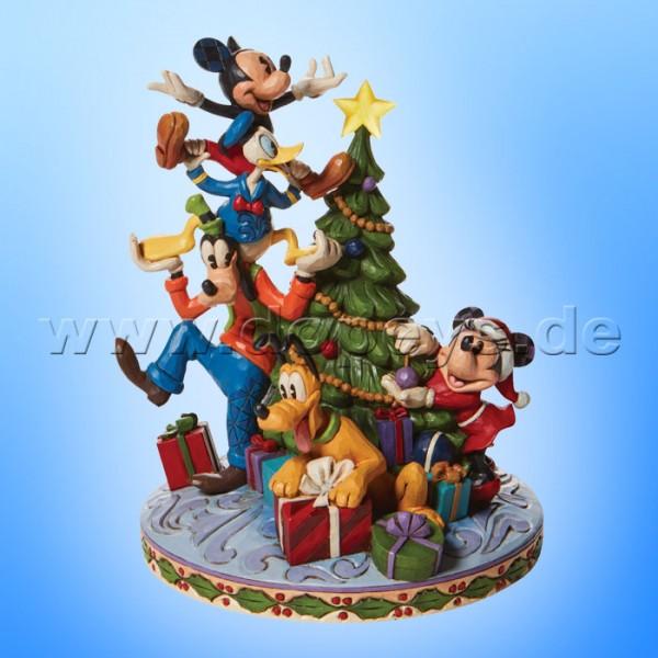 Disney Traditions - Merry Tree Trimming (Mickey & Freunde schmücken den Weihnachtsbaum) von Jim Shore 6008979