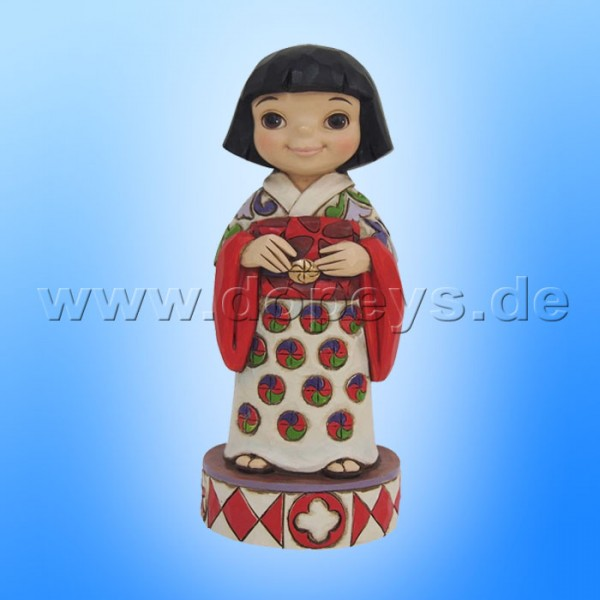 "Disney Traditions / Jim Shore Figur von Enesco ""Welcome to Japan (Small World Japan)"" 4055422."