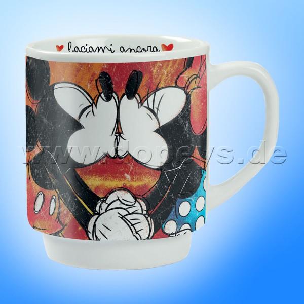 """Disney Kaffeetasse Mickey & Minnie """"Rot"""" stapelbar im italienischen Design"""