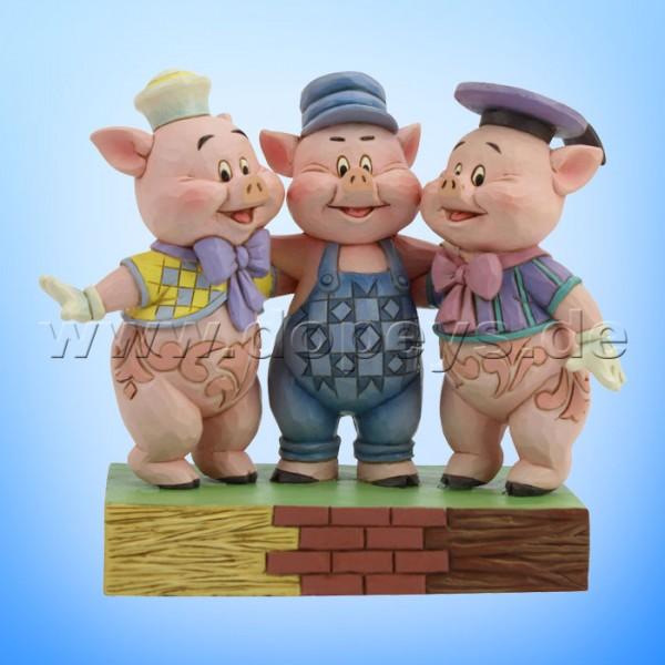 Squealing Siblings (Die drei kleinen Schweinchen) Figur von Disney Traditions / Jim Shore - Enesco 6005974