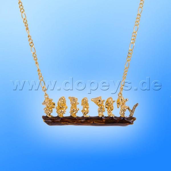 Disney Halskette - Sieben Zwerge (Schneewittchen) in Gold von Couture Kingdom 12100221