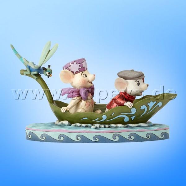"""Disney Traditions / Jim Shore Figur von Enesco """"To The Rescue (Bernard & Bianca mit Außenbordmotor 40 Jahre Jubiläumsfigur)"""" 4055405."""