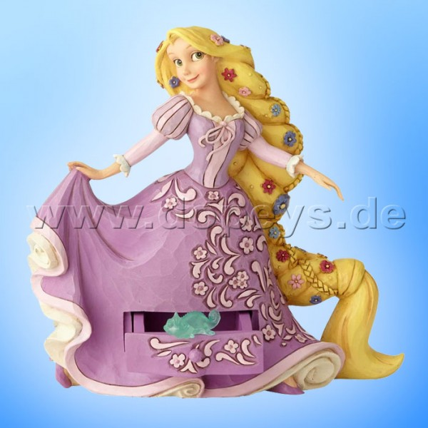 "Disney Traditions / Jim Shore Figur von Enesco ""Rapunzel's Secret Charm (Rapunzel mit Schmuckkasten)"" A29504"