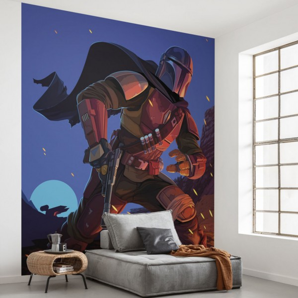 """Star Wars Vlies Fototapete """"Star Wars The Mandalorian Big Ambush"""" 2,50m x 2,80m"""