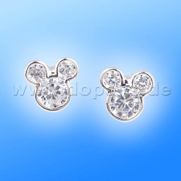 Disney Ohrstecker - Mickey Maus (Kristall) in Weißgold von Couture Kingdom 12100671