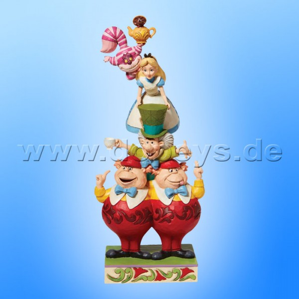 Disney Traditions - We're All Mad Here (Alice im Wunderland Stapelturm) von Jim Shore 6008997