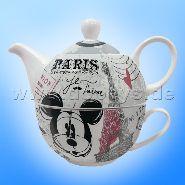 "Disney Mickey Maus Set aus Teekanne & Teetasse ""Tea For One"" im italienischen Design"