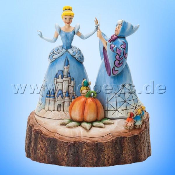 "Disney Traditions / Jim Shore Figur von Enesco ""Magical Transformation (Cinderella Baumstamm)"" 4037503."